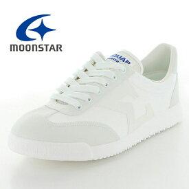 MOONSTAR ムーンスター ジャガーシグマ04 ジャガーΣ04 ジュニア メンズ レディース 白 スニーカー スクール 通学 合皮 学生靴 日本製 軽量 合皮 ホワイト /ST