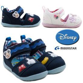 ベビーサンダル DN B1231 ミッキーマウス ミニーマウス ディズニー MOONSTAR ムーンスター マジックベルト マジックテープ式 男の子 女の子 チャイルド キッズ ネイビー ホワイト 履かせやすい 子供靴 /MR
