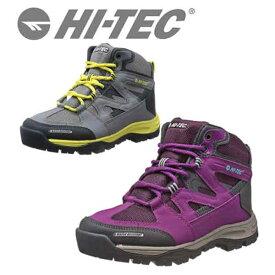 【HI-TEC】ハイテック HT TRW682 グレイ パープル 防水トレッキングシューズ レディス用 ST