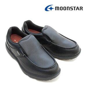 ムーンスター MS RP004 レインポーター 紳士靴 4E メンズシューズ コンフォート 抗菌防臭 スニーカー 幅広 ワイド 軽量 防水設計 ブラック (黒) 衝撃吸収 Ag 銀 洗えるインソール /MR