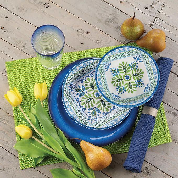 メラミン食器 12枚 (ディナープレート4枚,サラダプレート4枚,ボウル皿4枚) 花柄 食器 メラミンプレート 子供用食器 メラミン製 パスタ皿 盛皿 ランチプレート ボール皿