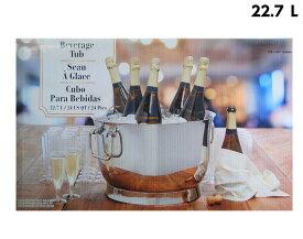 【新製品】鏡面 大型 ワインクーラー 22.7L ドリンククーラー ビバレッジクーラー シャンパンクーラー パーティークーラー ステンレス パーティー シルバー カクテルパーティー ワインパーティー 泡パーティー 2重 お洒落
