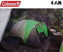 [送料無料]コールマン ドームテント 4人用 緑 ウェザーテック フルフライシート ワンタッチテント インスタントテント タープ クイック キャンプ アウトドア バーべキュー