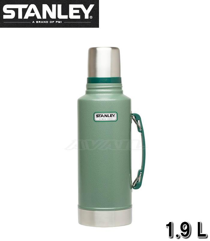 STANLEY/スタンレー クラシック真空断熱ボトル 1.9L グリーン 2QT CLASSIC VACUUMBOTTLE DOUBLE XL 水筒 魔法瓶 ステンレスボトル ウォーターボトル 遠足 運動会 バーべキュウ 登山 保温ポット 保冷 マイボトル 緑