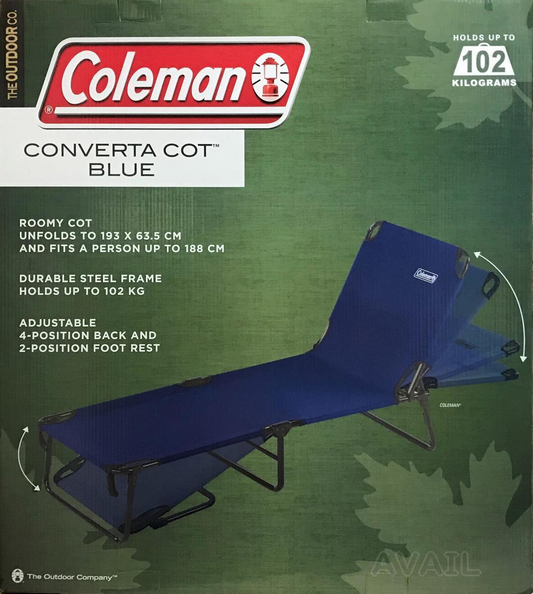 Coleman コールマン コンバータ コット 紺 ブルー コンバータコット アウトドアベッド キャンプベッド ラウンジャー ベッド キャンプ アウトドア レジャーベッド 折りたたみ ベッド 寝具 簡易ベッド 来客用ベッド サマーベッド