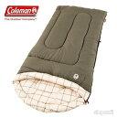 適温4.5℃以上 Coleman コールマン 寝袋 封筒型 顔くり抜き 198cm×84cm シュラフ スリーピングバッグ カルガリー キ…