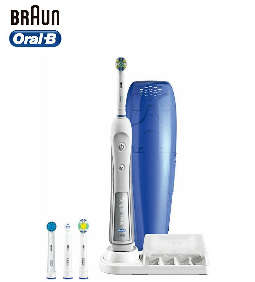 ブラウン オーラルB 4000 デンタプライド D295454X 電動歯ブラシ BRAUN Oral-B DENTA-PRIDE 4000 歯間ワイパー付きブラシ ホワイトニングブラシ ベーシックブラシやわらかめ 歯間用ブラシ