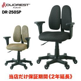 テレワーク オフィスチェア パソコンチェア 送料無料 DR-250SP 正規代理店 DUOREST デュオレスト レザーチェア ビジネスチェア チェア chair イス 肘付き アームレスト付き ヘッドレスト 上下調節 キャスター付き 椅子 ビジネス おしゃれ 保証