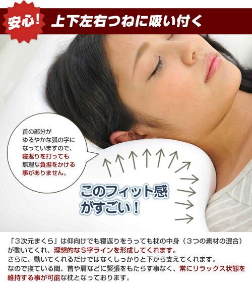 【送料無料】【カバー付】【日本製】空間fitの夢まくら3次元まくらまくら枕オーダーメイド感覚ピロー王様肩こりフェザー低反発快眠枕肩こり洗える日本製ギフト出産祝い快眠まくら《空間fitの夢まくらFit-Pillow》