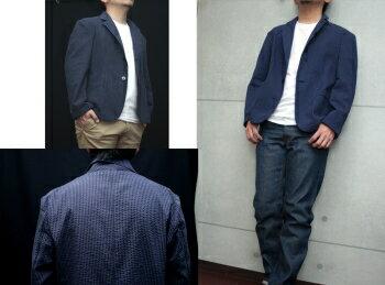 【工房直送(岡山)職人仕上げ】∞KAKEYAJEANS∞-made-in-japan-シアサッカージャケットkakeya-jeans-seersuckerjacket【国産ジャケット】【メンズ】