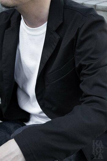 【工房直送(岡山)職人仕上げ】∞KAKEYAJEANS∞-madeinjapan-ジンコードピケ・ストレッチジャケットkakeya-jeans-summer-jacket【国産ジャケット】【メンズ】