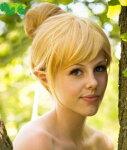(SCGEHA) ティンカーベル ウィッグ ハロウィン コスプレ 仮装 金髪 かつら ディズニー