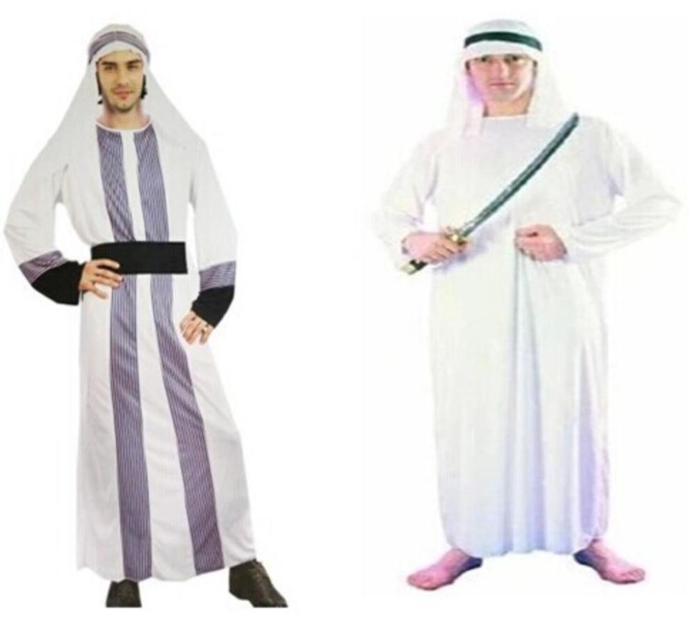 コスプレ 仮装 アラブ サウジアラビア 石油王 大富豪 民族衣装 ガンドーラ カンドゥーラ トーブ コスチューム 衣装 ターバン付き ハロウィン