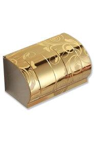 ステンレス トイレットペーパーホルダー 柄入り 芯なしペーパー可 芯棒なし ゴールド ピンクゴールド