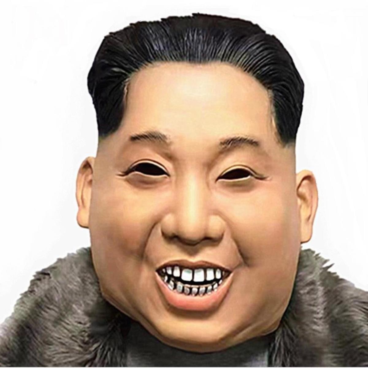 北の指導者 マスク ラバーマスク 政治家 有名人 なりきり お面 パーティー ハロウィン 仮装 コスプレ
