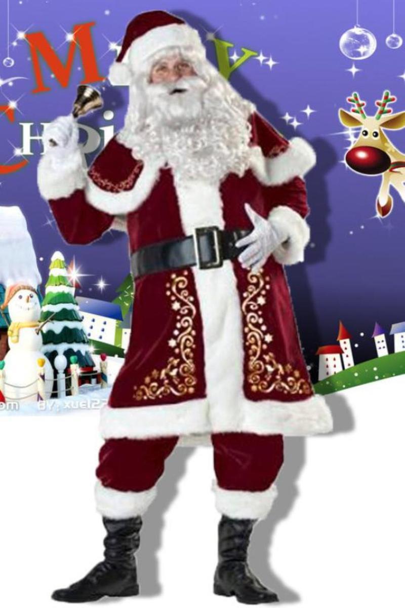 サンタクロース サンタ 本格的 豪華 衣装 コスプレ サンタ服 コスチューム クリスマス