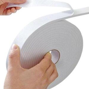 白 隙間テープ 窓 ドア すきま風 防止 防風 防寒 遮音 防音 開閉音防止 冷暖房効率アップ すきまテープ 5m(15mm幅)