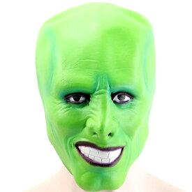 緑 マスク コスプレ グッズ 魔人 怪人 グリーン かぶりもの パーティー 仮装