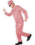 (SCGEHA) 囚人服 赤 緑 コスプレ コスチューム 衣装 男女兼用 帽子付