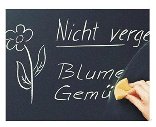 【SCGEHA】壁 貼る 黒板 シート ウォールステッカー 剥せる 落書き お絵かき スケジュール インテリア チョークつき 2カラー 2サイズ (ブラック/60×200)