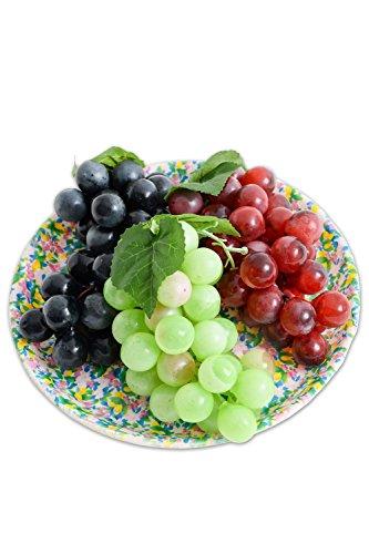 まるで本物 食品サンプル ブドウ 盛り合わせ フェイク イミテーション オブジェ 置物 オーナメント 飾り (ブドウ3種)