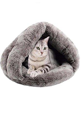 (SCGEHA) ドーム型 ペットハウス ペットベッド 寝袋 クッション 室内用 2カラー