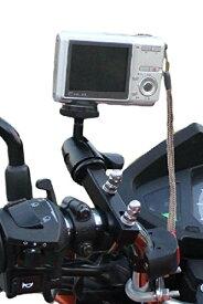 【SCGEHA】バイクカメラマウント カメラホルダー 自転車 ドライブレコーダーやナビの車載固定にも使えます ハンドルブラケット