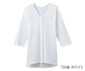 婦人用シャツ 7分袖クリップ ホワイト L