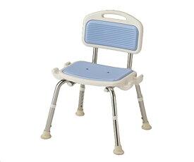 業務用シャワー椅子 肘無し ブルー
