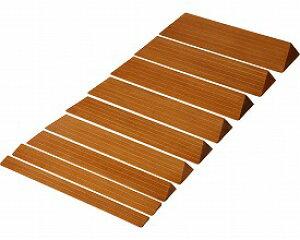 木製 滑りにくいスロープ 奥行14.5×高さ3.9×長さ80cm S-39 クリアー バリアフリー静岡 R0356【02P06Aug16】