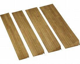 屋内用スロープ 段ない・ス50  木製仕様 長さ90cm 629-050 ライトブラウン シコク R0617