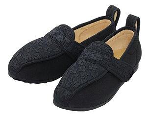 彩彩〜ジャガード〜 W902 ( 婦人用) 両足 (ブラック 24.5cm)【マリアンヌ製靴】 W1713
