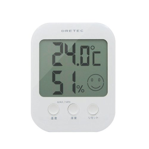 DRETEC デジタル温湿度計 「オプシス」 ホワイト O-230WT【02P06Aug16】
