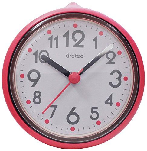 【送料無料】DRETEC(ドリテック) バスクロック スパタイム 防滴仕様 ピンク C-110PK2【02P06Aug16】