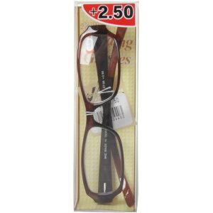 ワームス シニアグラスWT-55 クリアブラウン+2.50(老眼鏡)