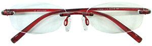 ジェーシー 超弾性樹脂老眼鏡 レッド 3.0