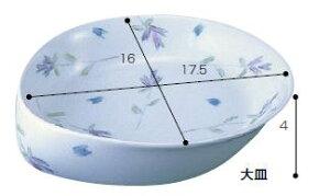 【感謝価格】テレサシリーズ(強化磁器) 大皿 ラベンダー (TK-2)