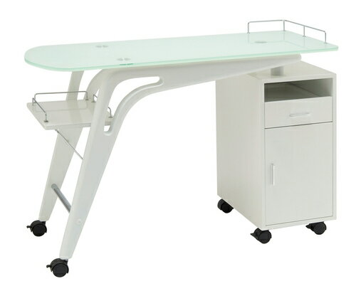 【送料無料】ネイルテーブル(ストリーム)(ホワイト)【02P06Aug16】