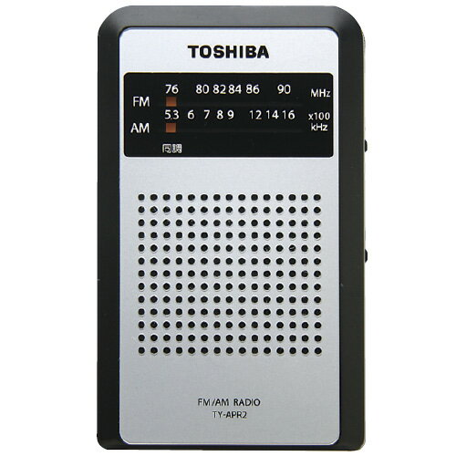 東京クラウン AM/FMポケットラジオ TY-APR3(K) サイズ:W58×D18×H95