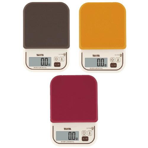 タニタ デジタルクッキングスケール KJ-111M-OR カラー:オレンジ