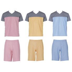 フットマーク 入浴介護Tシャツ(男女兼用) 403340 カラー:ブルー サイズ:L