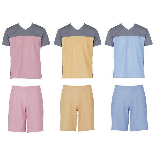 フットマーク 入浴介護Tシャツ(男女兼用) 403340 カラー:ブルー サイズ:LL