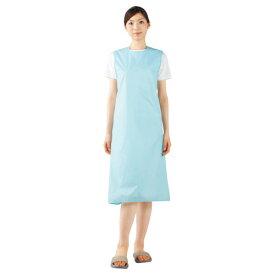撥水エプロン(女性用) 54-053 カラー:ブルー