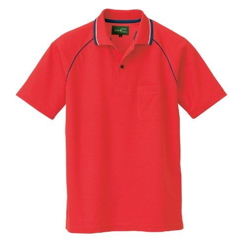 アイトス(アイトス) 制電半袖ポロシャツ 50005 レッド 5L