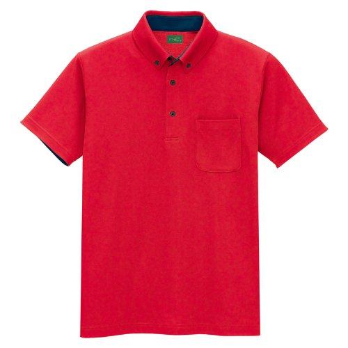 アイトス(アイトス) 制電半袖ポロシャツ 50006 レッド 5L