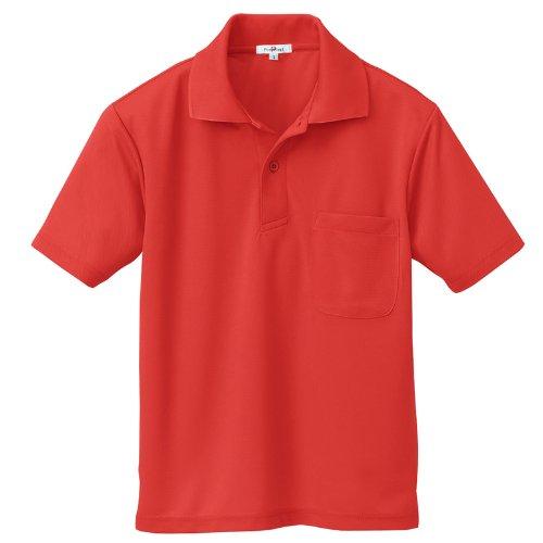 アイトス 大きいサイズ(3L) 吸汗速乾(クールコンフォート) 半袖ポロシャツ(男女兼用) 009/レッド AZ-10579
