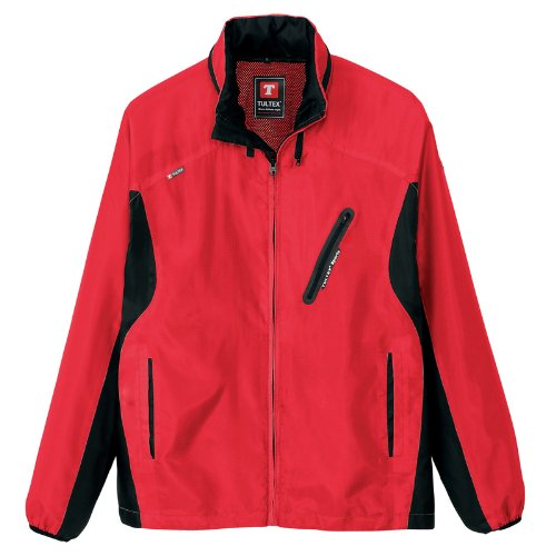 アイトス フードインジャケット(男女兼用)(春夏用) AZ-10301 109 レッド×ブラック SSサイズ