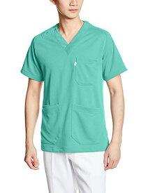 (ミズノ) MIZUNO 男女兼用ニットスクラブ医療白衣 MZ-0084 MZ0084 C-62 エメラルドグリーン LL