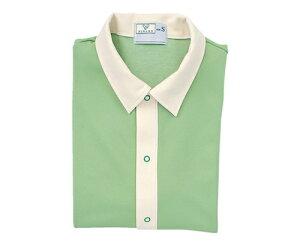 キラク 前開きシャツ M CR809-42(グリーン)