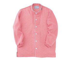 キラク 前開きシャツ L CR813-14(ピンク)